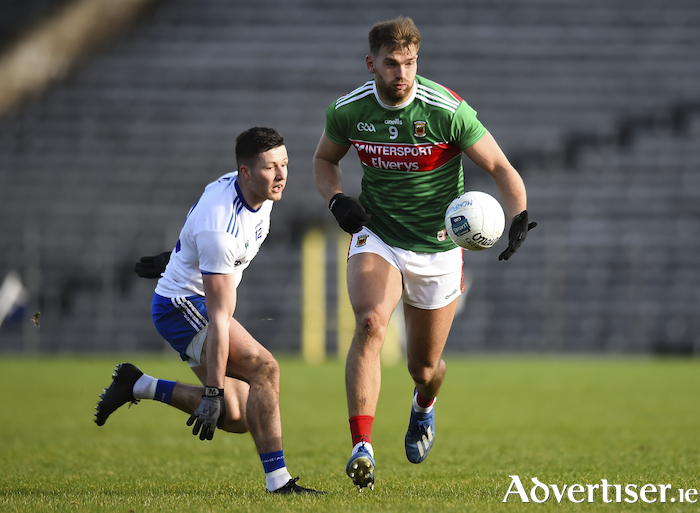 On the charge: Aidan O'Shea was named as Mayo captain for the coming year last weekend. Photo: Sportsfile