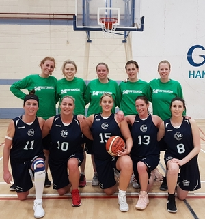 Mustangs squad: Back row: Fiona Feeney, Cliodhna Mac Cabe, Claire Nolan, Anita Hoban, Siobhan Kilkenny Front row: Karen Mulherin, Indre Majauskaite Guscuiviene, Louise Harte, Sinead Hughes, Maria Hall.