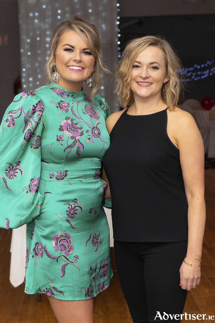 Gráinne Bleasdale and Fiona Fitzpatrick pictured at the Valentine's Day Wrap Party of the soap opera Ros na Rún in Park Lodge Hotel, Spiddal. Season 24 continues on TG4 every Tuesday and Thursday at 8.30pm with omnibus on Sundays at 7.30pm until 11 June 2020. Photo: Martina Regan.