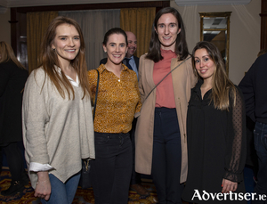 Ruth Storan and Trish Walsh, Connachy Rugby pictured with Fionnuala Londsay and Rebekah Blackmore, Keltie, in The Ardilaun Hotel at the Galway Chamber, February Business After Hours event,  hosted by TJ Hyland & Co and The Ardilaun.
