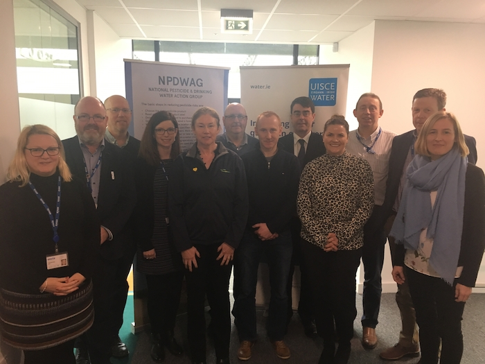 At the inaugural meeting of the Newport Catchment Focus GroUp were Toni Bourke (Irish Water); Dr Pat O'Sullivan (Irish Water); Sean Corrigan (NFGWS); Lorraine Gaston (Irish Water); Mary Roache (Teagasc); Dr Aidan Moody (DAFM); Joe Gallagher (NFGWS); John Keogh (APHA); Ailbhe Douglas (LAWPRO); Des Joyce (Irish Water); Ger Greally (Irish Water); Eileen Cavanagh (Mayo County Council).