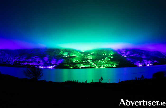 Photo of Kari Kola's Savage Beauty light installation in Connemara. Photo:- Cormac MacMahon. Other photos in this article are by Christopher Lund.