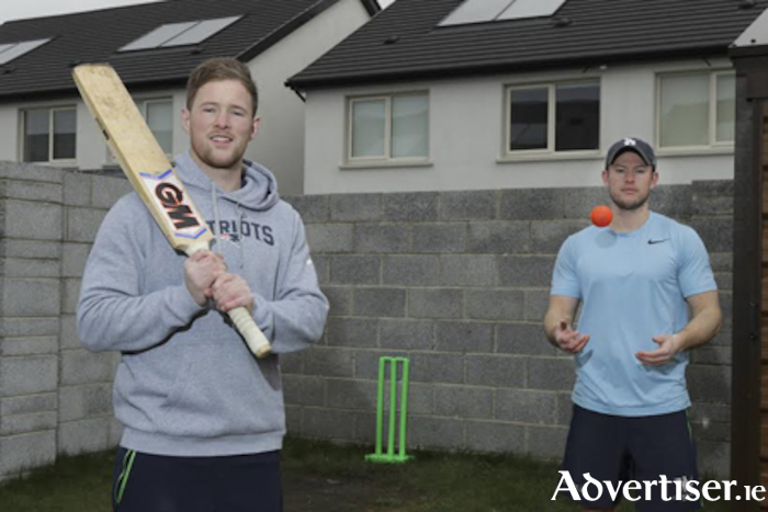 Anyone for cricket? Connacht's Kieran Marmion enjoys his rehabiliation after ankle surgery at home with twin brother Liam. 