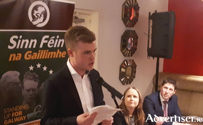 Louis O'Hara speaking at a Sinn Féin event earlier this year.
