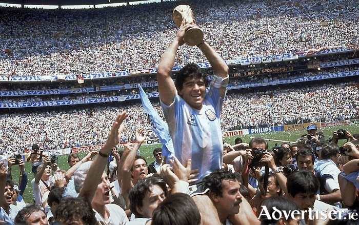 Maradona's finest hour - leading Argentina to victory at the Mexico 86 World Cup.