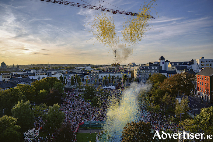 A taste of what might have been - the spectacular programme launch of Galway 2020 last September, as captured in this wonderful photograph by Declan Colohan.