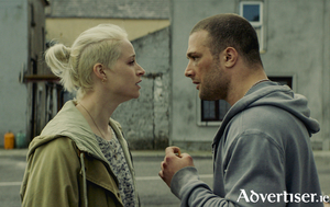 Niamh Algar and Cosmo Jarvis in Calm With Horses.