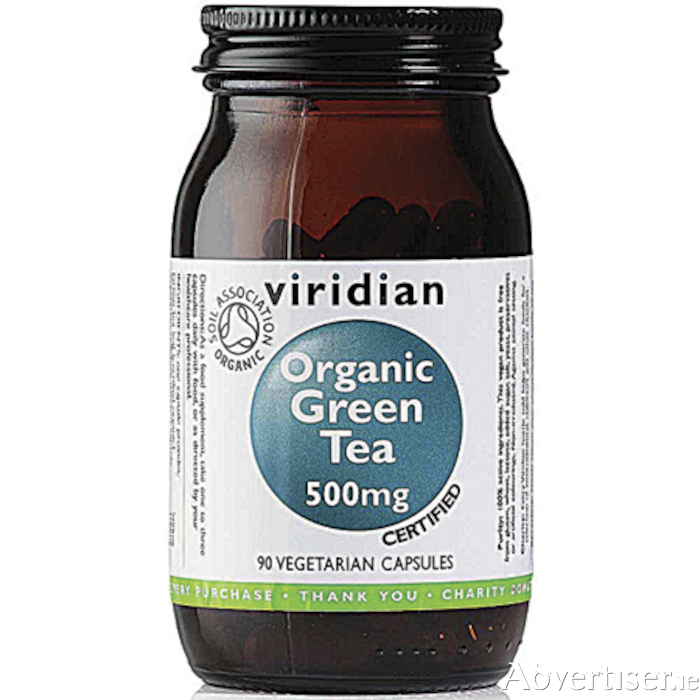 Viridian organic green tea capsules now available from Au Naturel
