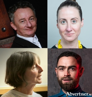 Clockwise from left: Little John Nee (photo by Mike Shaughnessy); Róisín Stack; Bernadette Divilliy (photo by Joe Shaughnessy); and James Riordan (photo by Julia Dunin).