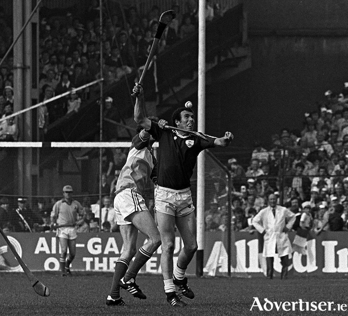 5 September 1981, John Connolly of Castlegar and Galway in action during the GAA Hurling All-Ireland Senior Championship final between Offaly and Galway at Croke Park in Dublin. Photo: Ray McManus/SPORTSFILE