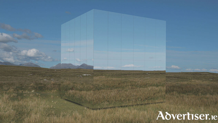 How the Mirror Pavilion should look when constructed and located in Connemara in October. It will go on display in the city in September.