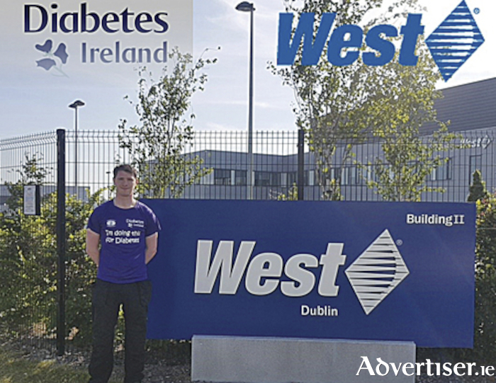 Rosemount native, Kevin O'Connell, who raised much needed funds for Diabetes Ireland during the month of July