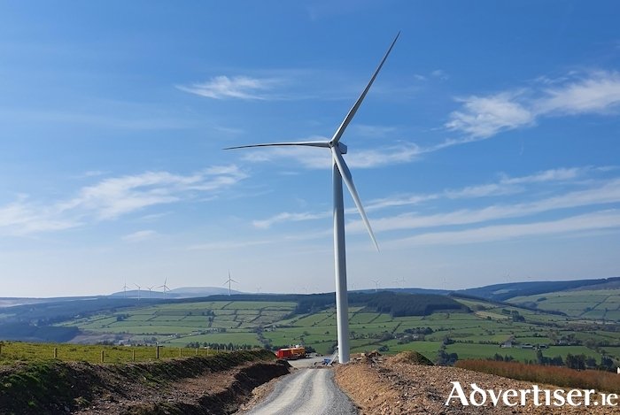 The Esk windfarm which is an AWS windfarm in Cork coming online this year. Picture credit: Amazon Web Services.