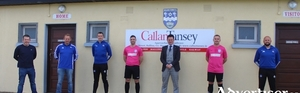 Ballina Town have renewed their sponsorship with Callan Tansey Solicitors for the 2020 season.Left to right: Conor Moore (Ballina Town vice chairman), Simon Beale, (Ballina Town Chairman), Mark Beattie (Ballina Town A, Coach), Benny Lavelle (Ballina Town A captain), David O'Malley (Partner, Callan Tansey Medical Negligence & General Litigation) , Dunae Helly (Ballina Town A), Philip Devers (Ballina Town A Manager)