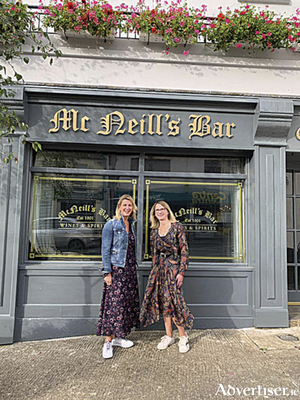 Melissa and Arlene McNeill of McNeill's pub on Connaught Street which will host the annual South Westmeath Hospice coffee morning on September 24