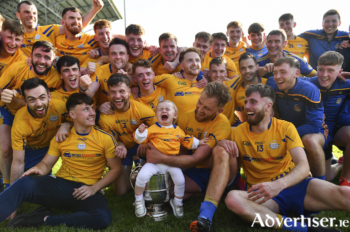 Kings of September: Knockmore celebrate after winning the Mayo senior championship. Photo: Sportsfile