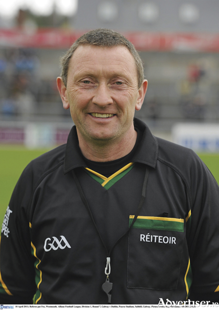 Rosemount native, Pat Fox, will officiate his eighth Westmeath Senior Football Championship final in TEG Cusack Park, Mullingar,on Sunday. Picture credit: Ray McManus / SPORTSFILE