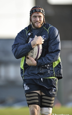 2 December 2014; Connacht's Eoin McKeon in action during a squad training ahead of their European Rugby Champions Cup 2014/15, Pool 2, Round 3, game against Bayonne on Saturday. Connacht Rugby Squad Training, Sportsground, Galway. Picture credit: Matt Browne / SPORTSFILE