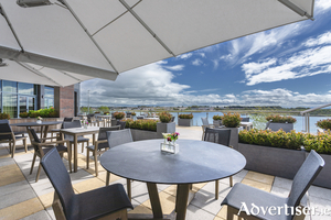 The Galmont Terrace offers stunning views of Lough Atalia.