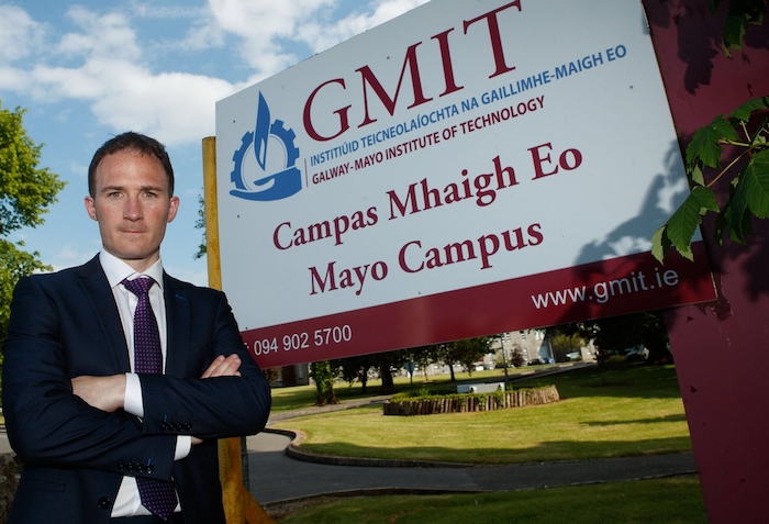 Deputy Alan Dillon TD outside the GMIT campus in Castlebar.