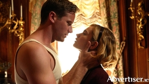 Armie Hammer (Maxim DeWinter) and Lily James (Mrs de Winter) in Rebecca.