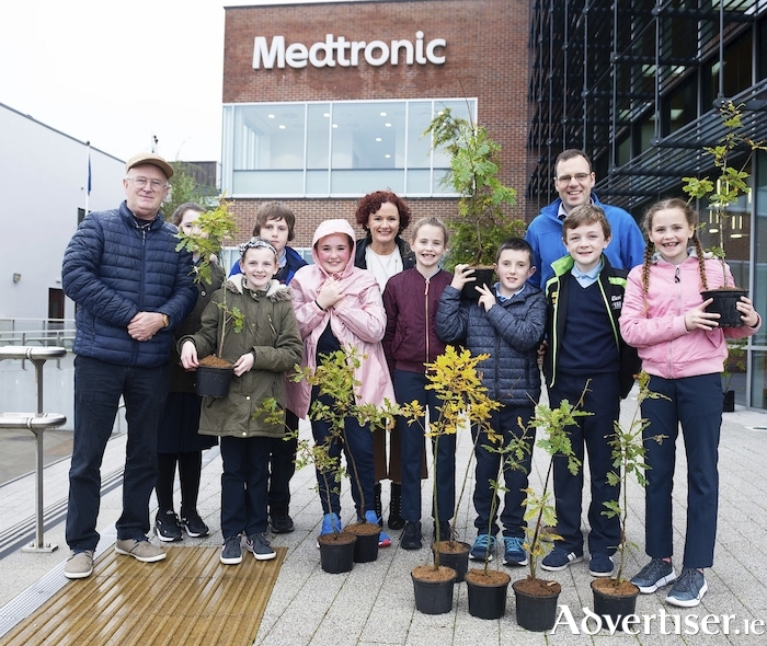 Science Festival team members and students from Clontuskert National School pictured at the programme launch of Galway Science and Technology Festival. Photo by Andrew Downes.