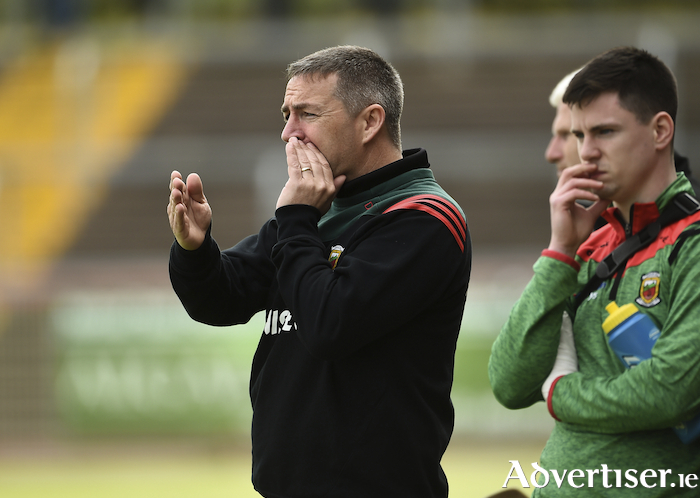 Making the calls: Derek Walsh will be hoping his Mayo side can get off to a winning start tomorrow in the Nicky Rackard Cup. Photo: Sportsfile