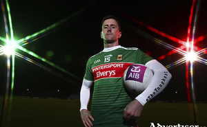Shooting star: Cillian O'Connor is expected to be fit and ready to return to the Mayo side after missing out on last weekend's game with Tyrone. Photo: Sportsfile.