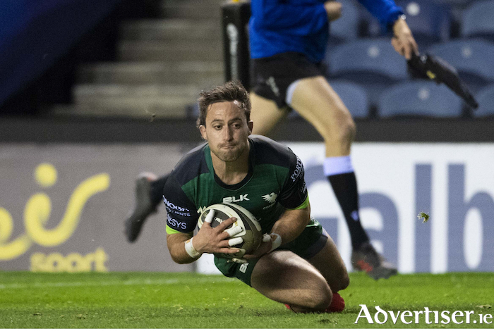 Touch down: Caolin Blade scores a try for Connacht last weekend against Edinburgh in the PRO14. Photo: Sportsfile