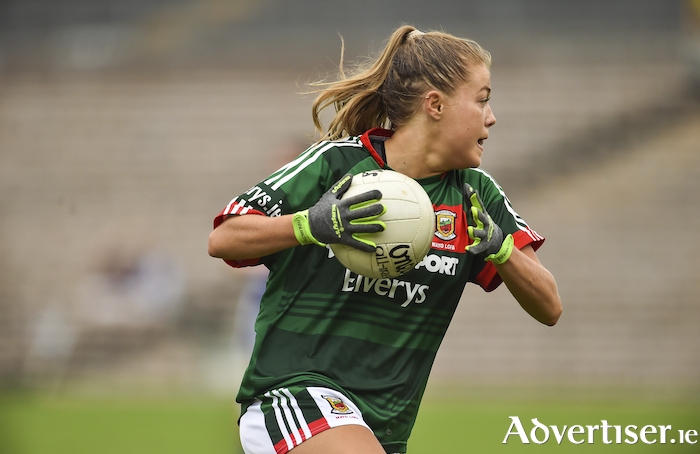 Hitting the target: Sarah Rowe hit 2-9 for Mayo in their comprehensive win over Tyrone in Carrick-on-Shannon. Photo: Sportsfile
