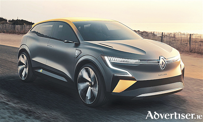 The new electric Renault Megane eVision.