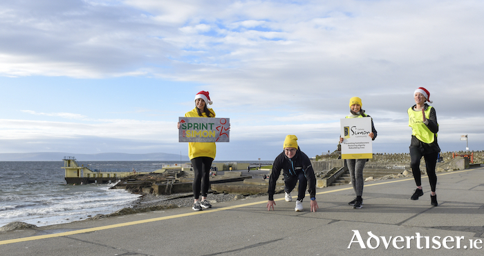 L-R (back): Pictured on the Salthill Prom are Amy Lavelle (Galway Simon), Jason Mitchell (Jason Mitchell Fitness), Deirdre Hynes (Galway Simon) and Eve Garavan (Galway Simon). Photo by Boyd Challenger