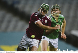 Galway's Brian Concannon of Galway on the ball against William O'Donoghue of Limerick during the GAA Hurling All-Ireland Senior Championship semi-final at Croke Park in Dublin. Photo by Piaras  Mcdheach/Sportsfile