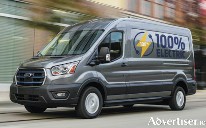 New all electric Ford e-Transit van