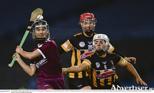 Aoife Donohue of Galway in action against Meighan Farrell,