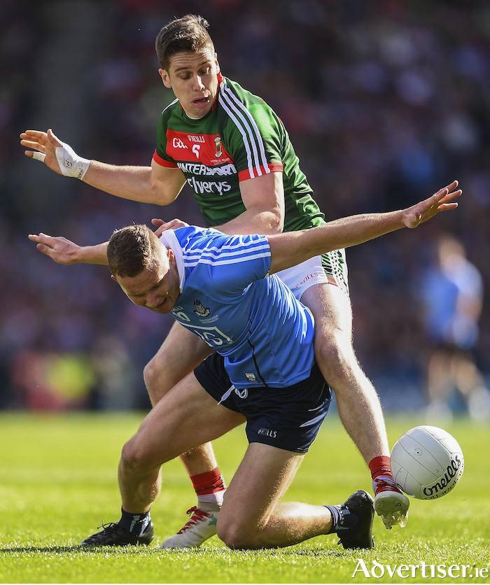 Big guns: Both Mayo and Dublin will be looking to curb the influence of the likes of Lee Keegan and Ciaran Kilkenny respectively. Photo: Sportsfile