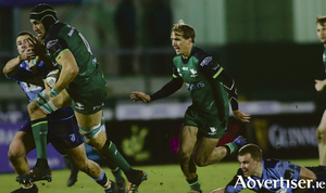 Connacht duo Ultan Dillane and John Porch in action from the Guinness PRO14 game at the Sportsground on Saturday.Photo:-Mike Shaughnessy