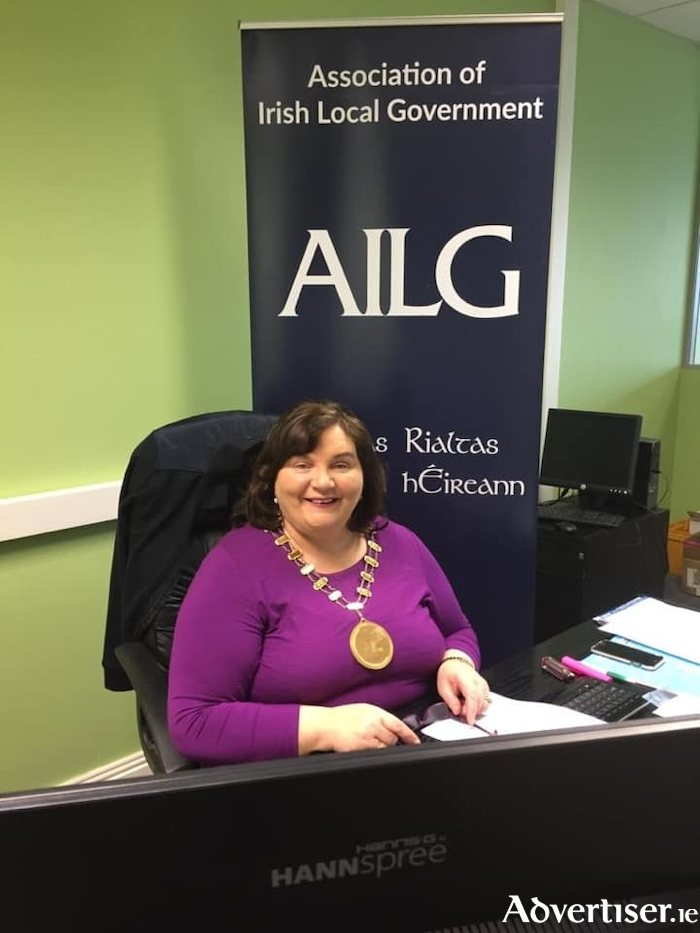 Cllr Mary Hoade hosting the virtual AILG National Women's Network Forum on Monday.