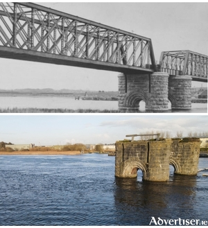 The Galway-Clifden railway line bridge supports on the River Corrib will become functional again under this plan.