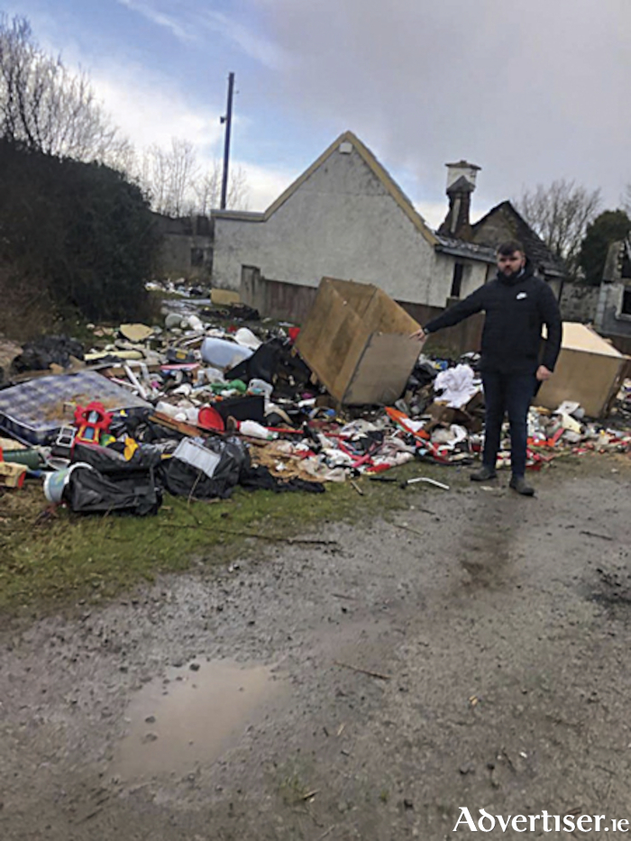 Local Independent Councillor, Jamie Moran, has expressed his anger following the illegal dumping of waste material along the road behind the ESB at Garrycastle