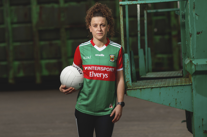 Ready to go: Kathryn Sullivan and her Mayo Ladies' teammates are looking forward to a new challenge this year with a new management team. She was pictured at the launch of the new Mayo GAA jersey. Photo: Inpho
