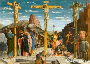 The Crucifixion by Andrea Mantegna, painted between 1457 and 1459.
