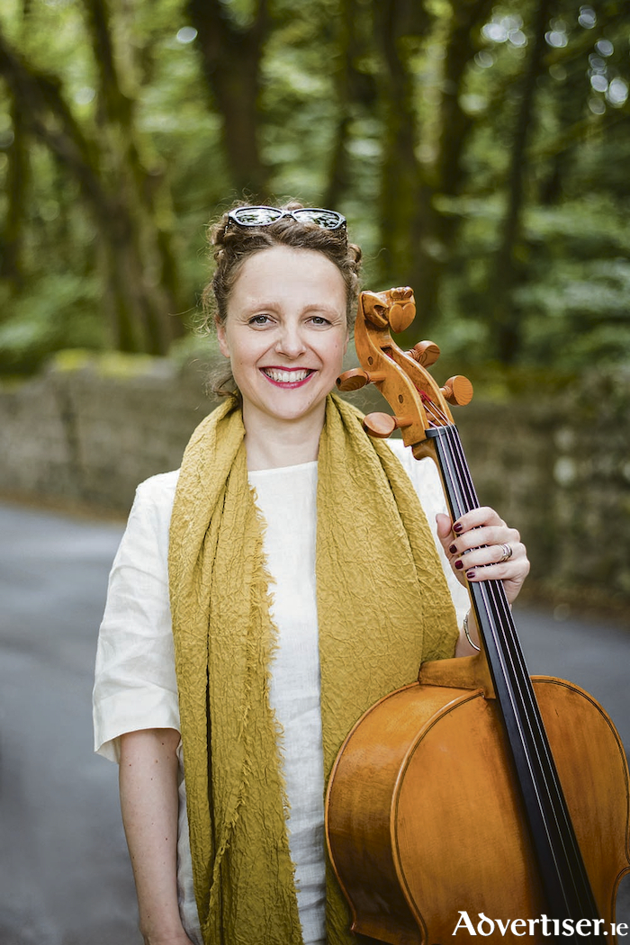 Festival director Anna Lardi with the Galway Cello looking forward to the start of Cellissmo  March 25-31 presented by Music for Galway and Galway 2020.  Photo: Julia Dunin