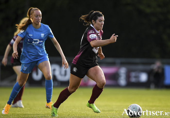 Galway WFC's Rachel Kearns in action at the UCD Bowl.