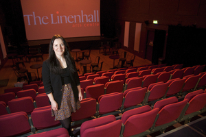 Bernadette Greenan, Director of the Linenhall Arts Centre, Castlebar, who announced a new international film festival will take place next year in the centre. Photo: Alison Laredo.