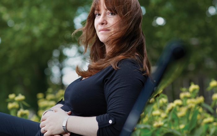 Eimear McBride seated