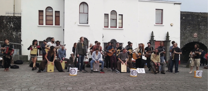 Galway buskers spanish arch