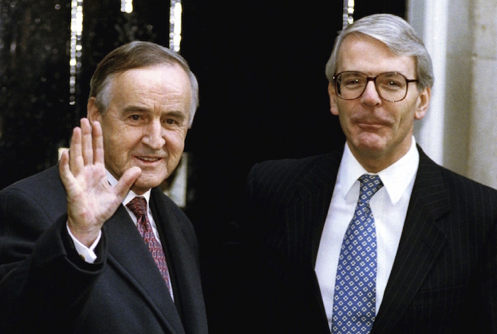 Albert Reynolds and John Major