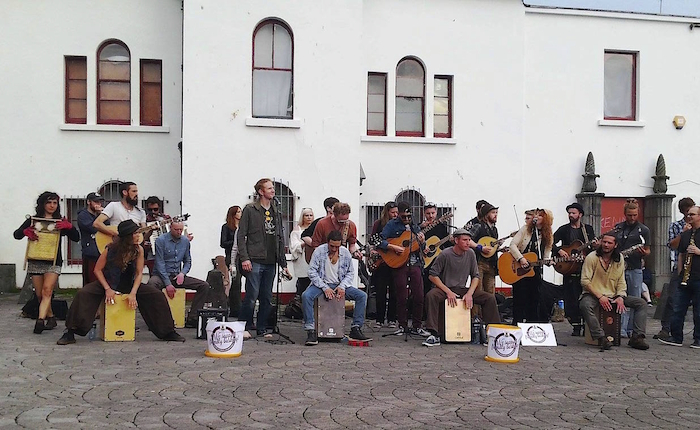 Galway Buskers at Spanish Arch