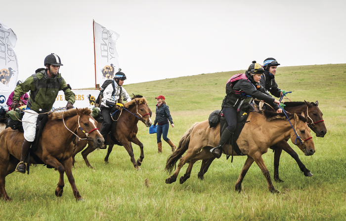 mongolia group of riders